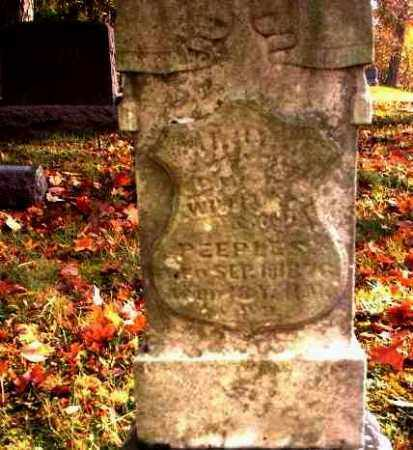 PEEPLES, MARY J. - Meigs County, Ohio | MARY J. PEEPLES - Ohio Gravestone Photos