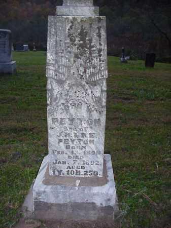 PEYTON, JOHN W. - Meigs County, Ohio | JOHN W. PEYTON - Ohio Gravestone Photos