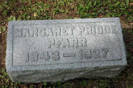 PRIODE PFARR, MARGARET - Meigs County, Ohio | MARGARET PRIODE PFARR - Ohio Gravestone Photos
