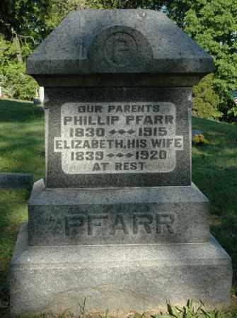 PFARR, ELIZABETH - Meigs County, Ohio | ELIZABETH PFARR - Ohio Gravestone Photos
