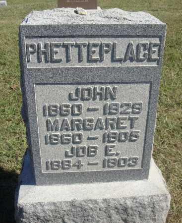 PHETTEPLACE, JOHN N. - Meigs County, Ohio | JOHN N. PHETTEPLACE - Ohio Gravestone Photos