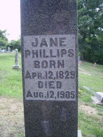 PHILLIPS, JANE - CLOSE VIEW - Meigs County, Ohio   JANE - CLOSE VIEW PHILLIPS - Ohio Gravestone Photos
