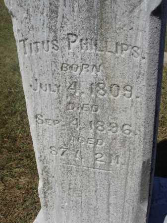 PHILLIPS, TITUS - Meigs County, Ohio | TITUS PHILLIPS - Ohio Gravestone Photos