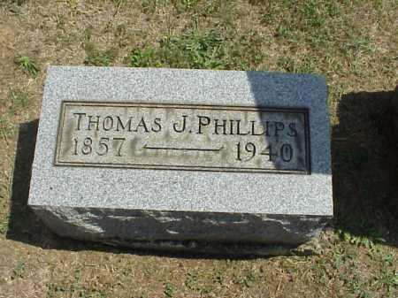 PHILLIPS, THOMAS J. - Meigs County, Ohio | THOMAS J. PHILLIPS - Ohio Gravestone Photos