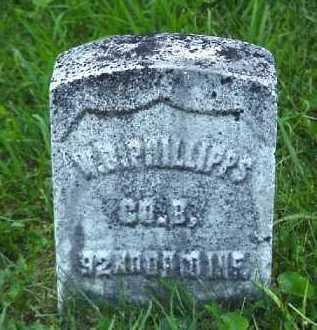 PHILLIPS, W. B. - Meigs County, Ohio | W. B. PHILLIPS - Ohio Gravestone Photos