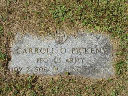 PICKENS, CARROLL O. -  MILITARY - Meigs County, Ohio   CARROLL O. -  MILITARY PICKENS - Ohio Gravestone Photos