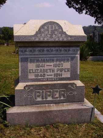 PIPER, ELIZABETH - Meigs County, Ohio | ELIZABETH PIPER - Ohio Gravestone Photos