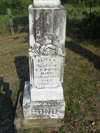 POND, ELIZA A. - Meigs County, Ohio | ELIZA A. POND - Ohio Gravestone Photos