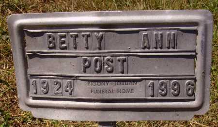POST, BETTY ANN - Meigs County, Ohio | BETTY ANN POST - Ohio Gravestone Photos