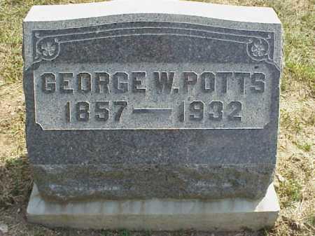 POTTS, GEORGE W. - Meigs County, Ohio | GEORGE W. POTTS - Ohio Gravestone Photos