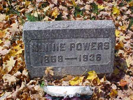 POWERS, MINNIE - Meigs County, Ohio | MINNIE POWERS - Ohio Gravestone Photos