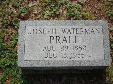 PRALL, JOSEPH WATERMAN - Meigs County, Ohio   JOSEPH WATERMAN PRALL - Ohio Gravestone Photos