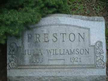 PRESTON, JULIA - Meigs County, Ohio   JULIA PRESTON - Ohio Gravestone Photos
