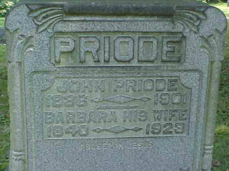 PRIODE, BARBARA - Meigs County, Ohio   BARBARA PRIODE - Ohio Gravestone Photos