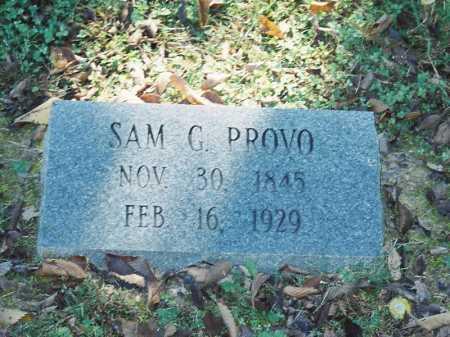 PROVO, SAM G. - Meigs County, Ohio | SAM G. PROVO - Ohio Gravestone Photos