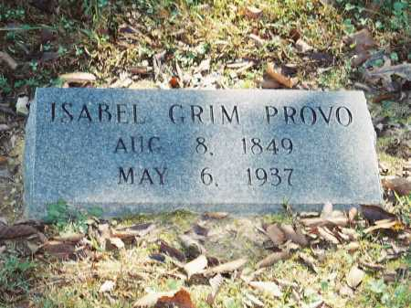 GRIM PROVO, ISABEL - Meigs County, Ohio   ISABEL GRIM PROVO - Ohio Gravestone Photos