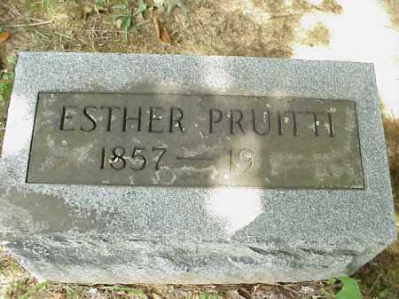 PRUITTI, ESTHER - Meigs County, Ohio | ESTHER PRUITTI - Ohio Gravestone Photos