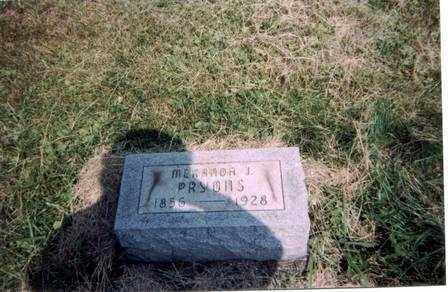 PRYONS, MERANDA - Meigs County, Ohio | MERANDA PRYONS - Ohio Gravestone Photos