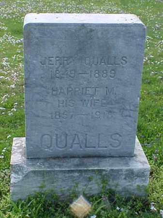 QUALLS, HARRIET M. - Meigs County, Ohio | HARRIET M. QUALLS - Ohio Gravestone Photos