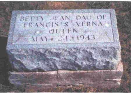 QUEEN, BETTY JEAN - Meigs County, Ohio   BETTY JEAN QUEEN - Ohio Gravestone Photos