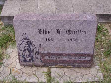 QUILLIN, ETHEL M. - Meigs County, Ohio | ETHEL M. QUILLIN - Ohio Gravestone Photos