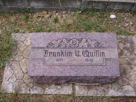 QUILLIN, FRANKLIN URIAH - Meigs County, Ohio | FRANKLIN URIAH QUILLIN - Ohio Gravestone Photos