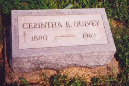 QUIVEY, CERINTHA E. (AKA CYNTHIA) - Meigs County, Ohio   CERINTHA E. (AKA CYNTHIA) QUIVEY - Ohio Gravestone Photos