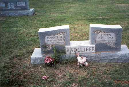 RADCLIFFE, NANNIE M. - Meigs County, Ohio | NANNIE M. RADCLIFFE - Ohio Gravestone Photos