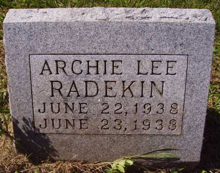 RADEKIN, ARCHIE LEE - Meigs County, Ohio | ARCHIE LEE RADEKIN - Ohio Gravestone Photos