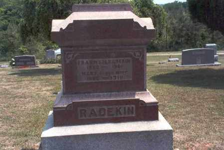 RADEKIN, FRANCIS M. - Meigs County, Ohio | FRANCIS M. RADEKIN - Ohio Gravestone Photos