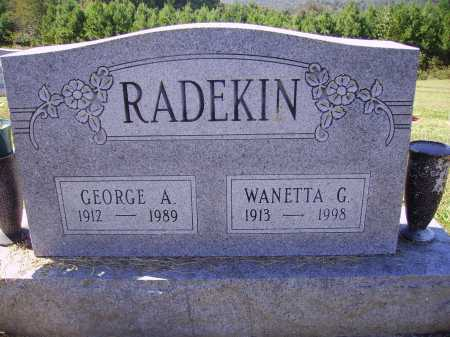 RADEKIN, WANETTA G. - Meigs County, Ohio | WANETTA G. RADEKIN - Ohio Gravestone Photos