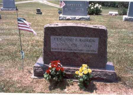 RADEKIN, P.F.C. JOHN E. - Meigs County, Ohio | P.F.C. JOHN E. RADEKIN - Ohio Gravestone Photos