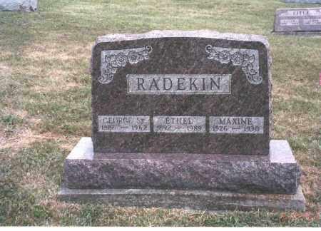 RADEKIN, MAXINE - Meigs County, Ohio | MAXINE RADEKIN - Ohio Gravestone Photos