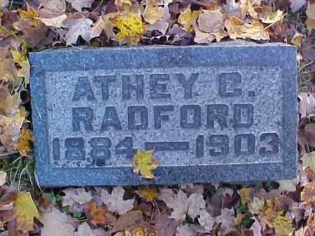 RADFORD, ATHEY C. - Meigs County, Ohio | ATHEY C. RADFORD - Ohio Gravestone Photos