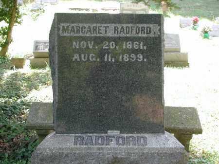 RADFORD, MARGARET - Meigs County, Ohio | MARGARET RADFORD - Ohio Gravestone Photos