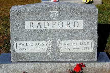 RADFORD, WAID CROSS - Meigs County, Ohio | WAID CROSS RADFORD - Ohio Gravestone Photos