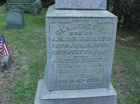 HILL RALSTON, SARAH J. - Meigs County, Ohio | SARAH J. HILL RALSTON - Ohio Gravestone Photos
