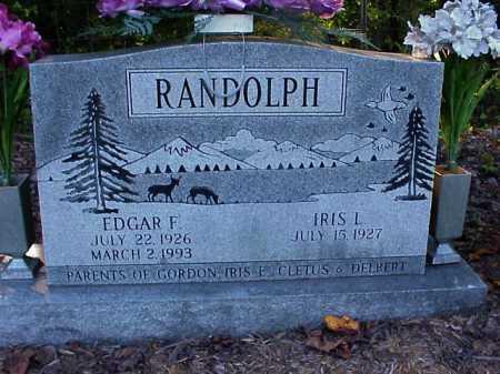RANDOLPH, IRIS I. - Meigs County, Ohio   IRIS I. RANDOLPH - Ohio Gravestone Photos