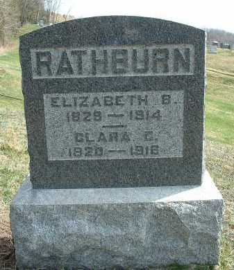RATHBURN, ELIZABETH B. - Meigs County, Ohio | ELIZABETH B. RATHBURN - Ohio Gravestone Photos