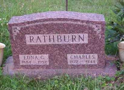 RATHBURN, EDNA G. - Meigs County, Ohio   EDNA G. RATHBURN - Ohio Gravestone Photos