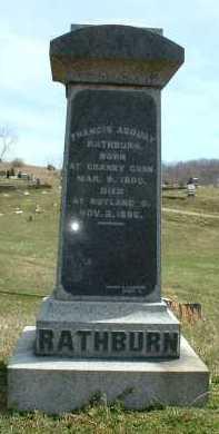 RATHBURN, FRANCIS ASBURY - Meigs County, Ohio | FRANCIS ASBURY RATHBURN - Ohio Gravestone Photos