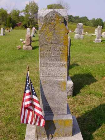 RAWLINGS, WILLIAM A. - Meigs County, Ohio | WILLIAM A. RAWLINGS - Ohio Gravestone Photos