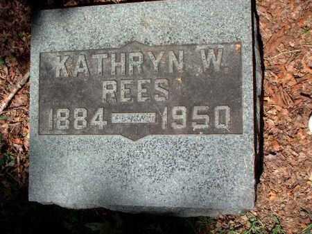 REES, KATHRYN W. - Meigs County, Ohio | KATHRYN W. REES - Ohio Gravestone Photos