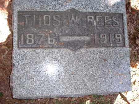 REES, THOMAS W. - Meigs County, Ohio | THOMAS W. REES - Ohio Gravestone Photos