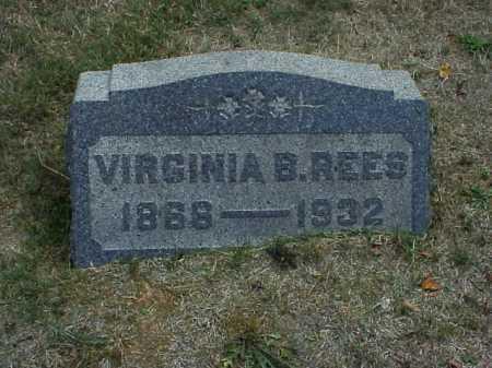 REES, VIRGINIA B. - Meigs County, Ohio | VIRGINIA B. REES - Ohio Gravestone Photos