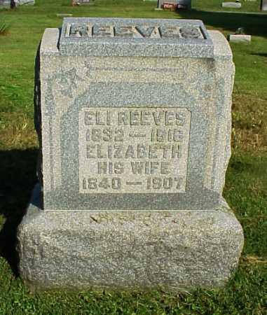 REEVES, ELIZABETH - Meigs County, Ohio | ELIZABETH REEVES - Ohio Gravestone Photos