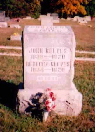 REEVES, REBECCA - Meigs County, Ohio | REBECCA REEVES - Ohio Gravestone Photos
