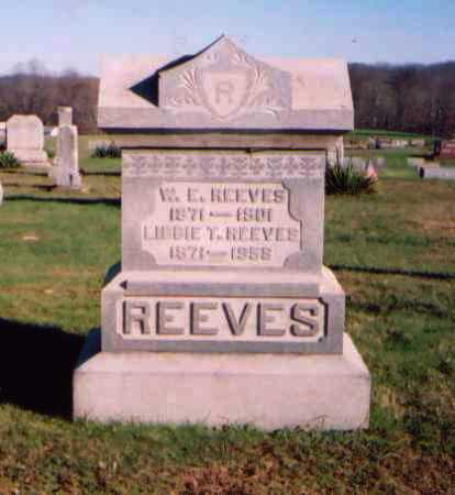 REEVES, W. E. [WASHINGTON ELLSWORTH] - Meigs County, Ohio | W. E. [WASHINGTON ELLSWORTH] REEVES - Ohio Gravestone Photos