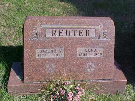 REUTER, LORENZ V. - Meigs County, Ohio | LORENZ V. REUTER - Ohio Gravestone Photos