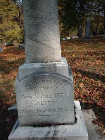 REUTER, PAUL - Meigs County, Ohio | PAUL REUTER - Ohio Gravestone Photos